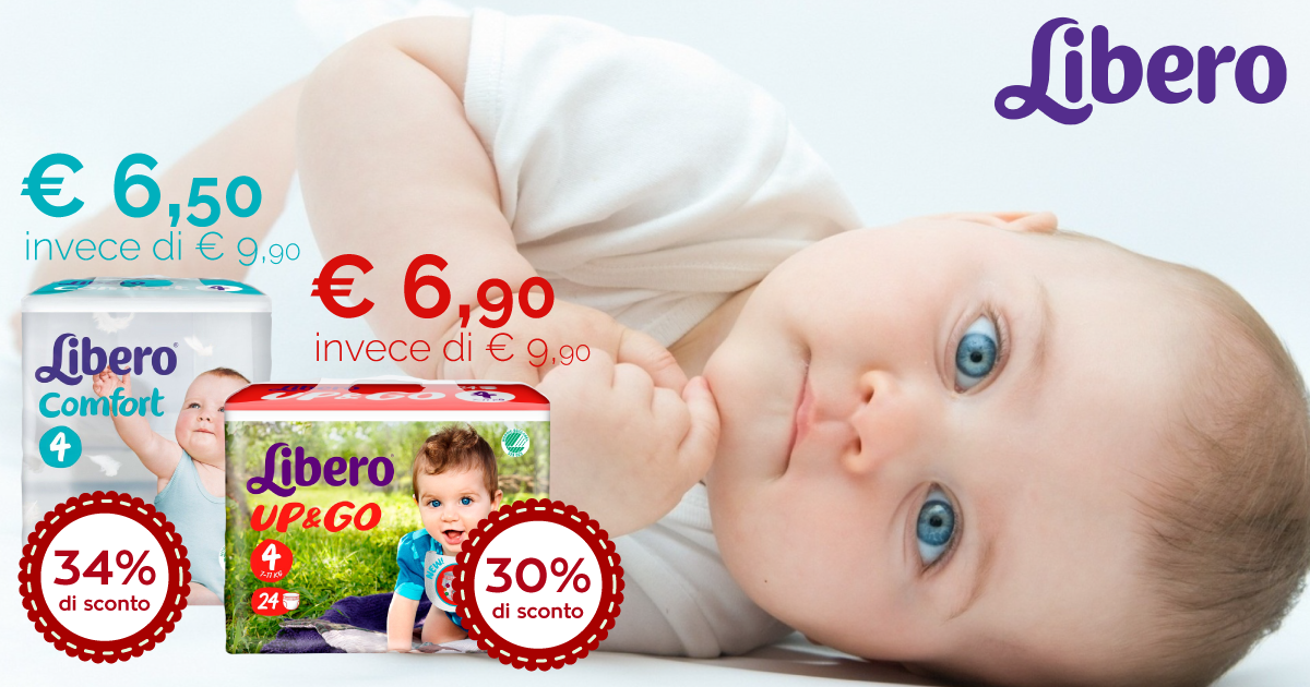Libero Comfort e Libero Up & Go in promo
