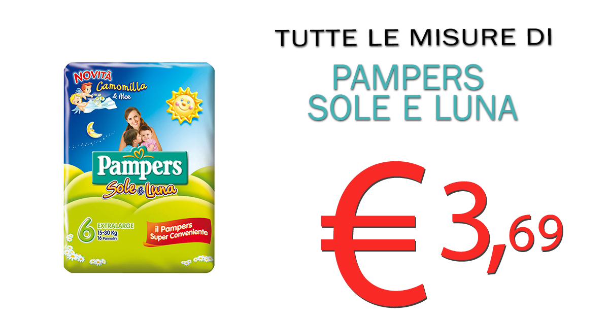 Pampers Sole e Luna in Promo