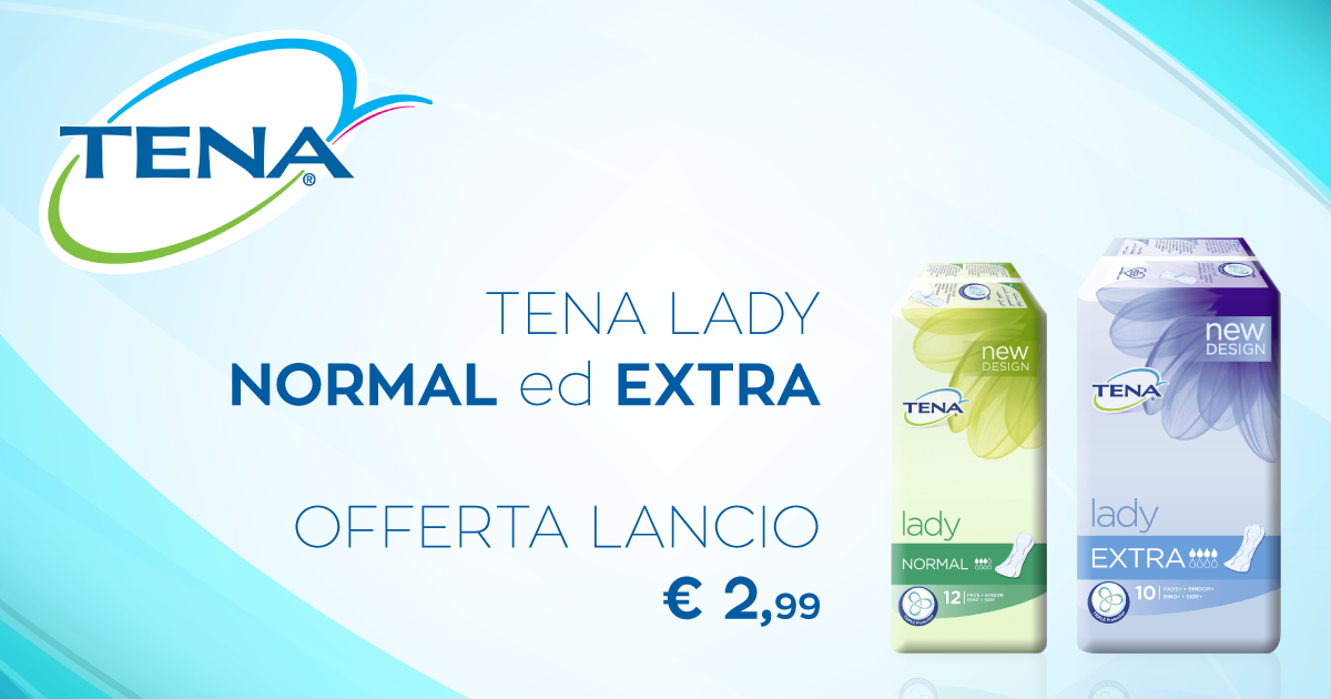 Tena Lady normal ed Extra in promo